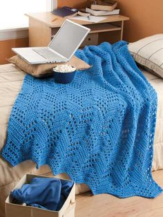 Crochet - Afghan & Throw Patterns - Single Color Patterns - Mountain High Throw