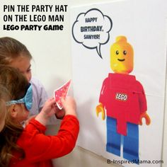 Pin the Party Hat on the LEGO Man and other Fun LEGO Party Activities