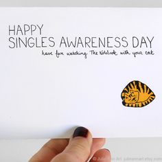 Anti Valentine Card Single Awareness Day Card Funny by JulieAnnArt, $4.00