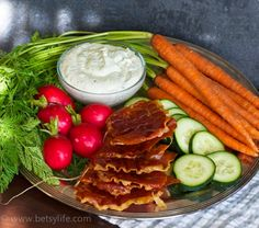 Prosciutto Chips with Whipped Feta Dip