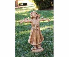 """Girl Statue """"Joy"""" Girl Rejoicing Statuary"""