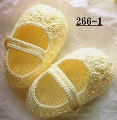 Escarpines de Bebe/ Baby Shoes/ Babyschuhe with Charts