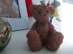 Teddy Bear Soap - brown, glycerin.  Soap Art. £2.95, via Etsy.