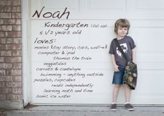 Happy 1st day of Kindergarten! You need to make this for Mason!