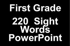 Mrs. Gilchrist's Class: Sight Words PowerPoint Freebie