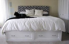 Ana White King Storage Bed