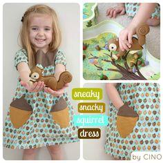 Acorn pocket dress – DIY inspiratie