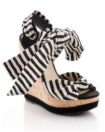 Black & White Stripe Platform.