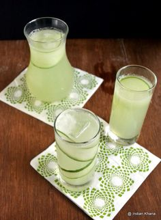 Cucumber Lemonade Recipe Prep Time: 10 Minutes Total Time: 10 Minutes Serves: 5-6  Ingredients:  Large Cucumber - 1 Lemon Juice - 1/2 Cup [or to taste] Lemon Zest - 1 tsp [or of 1 small lemon] Sugar - 3/4 Cup [or honey to taste] Water - 6 Cups Salt - 3/4 tsp [optional] Ice Cubes - Few