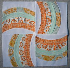 "Sew Kind Of Wonderful: ""Curve it up"" Rail Fence ~ Block #3"