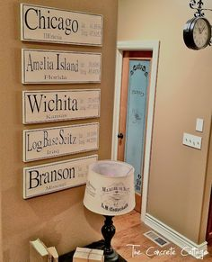 The Concrete Cottage: Latitude & Longitude Signs, a Tutorial