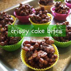 chocolate crispy cake bites