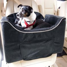 Luxury car seat keeps your pet safely contained so you both enjoy the ride.