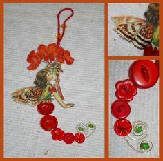 button fairi, geranium button