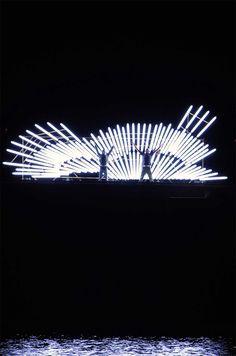 Fluorescent Light Installations by Yochai Matos light installation