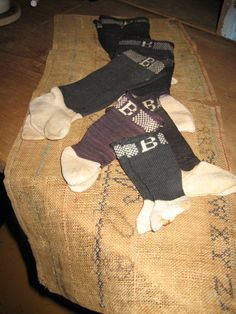 GROUPING OF OLD DOLL SOCKS-JOAN LUCAS ANTIQUES