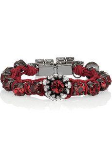 Braided bracelet with Swarovski crystals
