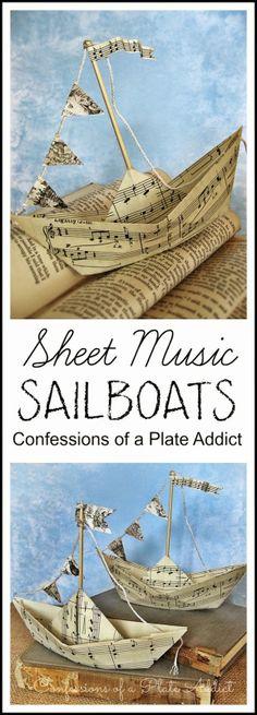Sheet Music Sailboats