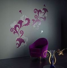 Purple wall decals - artistic!
