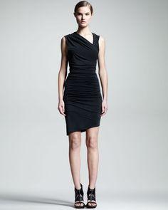 HELMUT Helmut Lang Ruched Asymmetric Dress - Neiman Marcus, $295