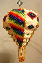 Indian Summer Balloon Bead Pattern - Item Number 13136 at Bead-Patterns.com