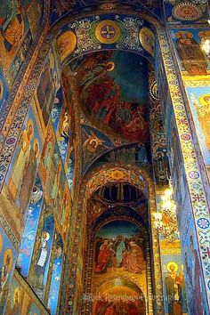 The Church of Our Savior on the Spilled Blood in St. Petersburg, Russia