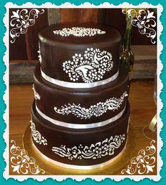 Henna Cake stencils 3 pieces cake decorating por Stenciland
