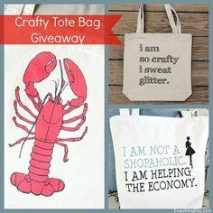 Crafty Tote Bag Giveaway {Handmade & Craft}