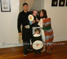 Coolest Sushi Family Costume... Coolest Halloween Costume Contest