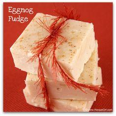 eggnog fudge...