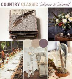 Countryside rustic tweed style wedding theme
