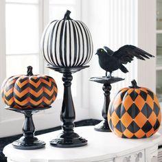 Designer Pumpkins and Stands So pretty!