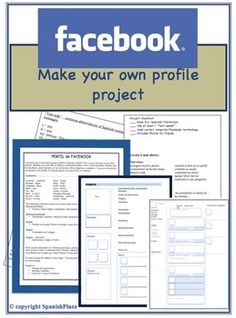 "Facebook Project for Spanish: ""This activity is WONDERFUL. I'm using it as a sub plan because it will take a significant amount of time (90 minute blocks) and is something interesting for the students to do. The list of abbreviations for texting is super relevant for the students and the overall assignment is something out of the ordinary for them to complete. """