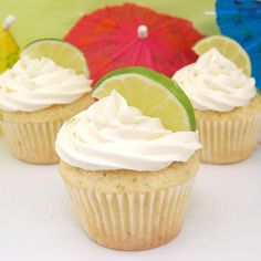 Margarita Cupcakes with Tequila Lime Buttercream Frosting! Sweets with alcohol in them...now thats what I am talking about!