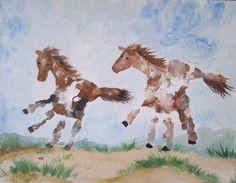 Custom Hand Print or Foot Print Art Artwork by PattycakeArtworks, $40.00