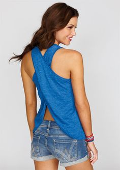 dELiAs > Holly V-neck Tulip Back Tank > tops > view all tops