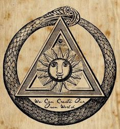 The Ouroboros or Uroborus is an ancient symbol depicting a serpent or dragon eating its own tail. The Ouroboros represents self-reflexivity or cyclicality, especially in the sense of something constantly re-creating itself, the eternal return, and other things perceived as cycles that begin anew as soon as they end (compare with phoenix).