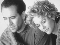 """Nicolas Cage as Seth and Meg Ryan as Dr. Maggie Rice, """"City of Angels"""", 1998 film, rice, god, city of angels, angel movi, no way, meg ryan, nicolas cage, citi"""