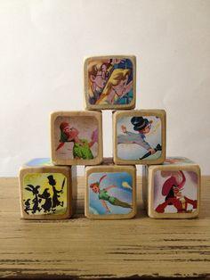baby shower peter pan, wood toys, gift ideas, book illustrations, nurseri