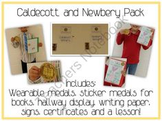 Caldecott & Newbery Award Winners Unit - Students Writing Ea! Enter for your chance to win.  Caldecott & Newbery Award Winners Unit - Students Writing Earns Medals (20 pages) from Lessons For Little Learners on TeachersNotebook.com (Ends on on 10-4-2014)  This PDf is to be used for a unit on Caldecott and Newbery award winners. Students will learn about these medals as well as Honors and then will get a chance to earn the medals themselves with their own writing pieces. This can be ...