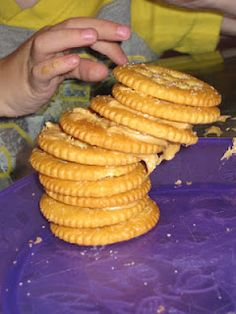 Tower of Babel with crackers