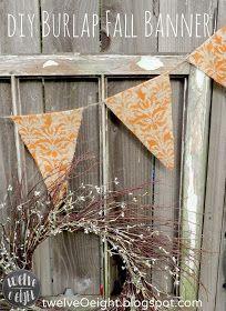 twelveOeight: DIY Fall Burlap Banner
