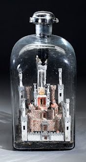 The Jewish Museum |  Model of the Second Temple in Jerusalem in a Bottle