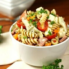 Antipasto Pasta Salad - a flavorful, crowd-pleasing summer side.