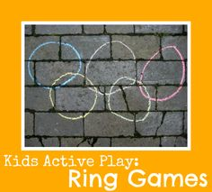 Olympic theme ring games for kids! #CampSunnyPatch