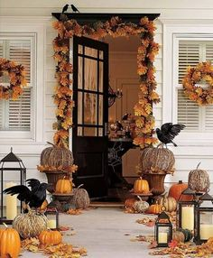Fall porch decorations.  My favorite.  Ironic since I live in Florida and we don't really get much of a fall season here.