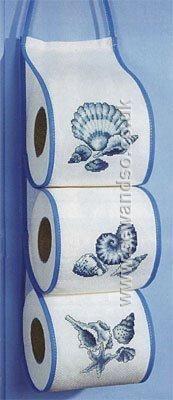 Buy Shells Toilet Roll Tidy Cross Stitch Kit Online at www.sewandso.co.uk