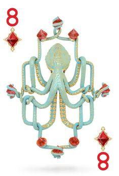 Octopus Inspiration / Octopus playing card