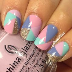 Pastel color-block. Pretty, but ain't no body got time for that!