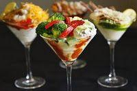 Mashed potato bar...serve in martini glasses